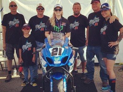 La ganadora del AMA Supersport, Elena Myers, culpa de su retirada a los abusos sexuales