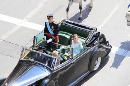 Coche Felipe VI Letizia Ortiz rey reina
