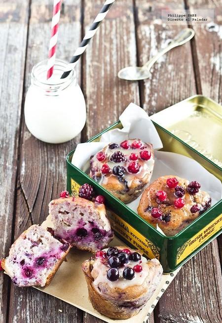 Muffins Frutas Rojas