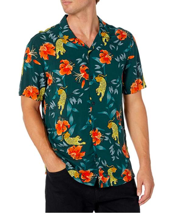 Camisa Amazon con estampado de tigres