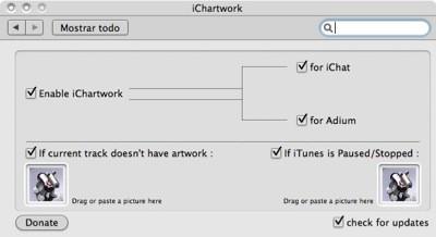 iChartwork: Usa la portada del disco de iTunes como avatar