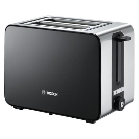 El tostador de acero inoxidable Bosch TAT7203 de dos ranuras cuesta 57 euros en Amazon con envío gratis incluido