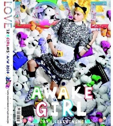 La portada de Love Magazine es muy parecida a la de V Magazine...