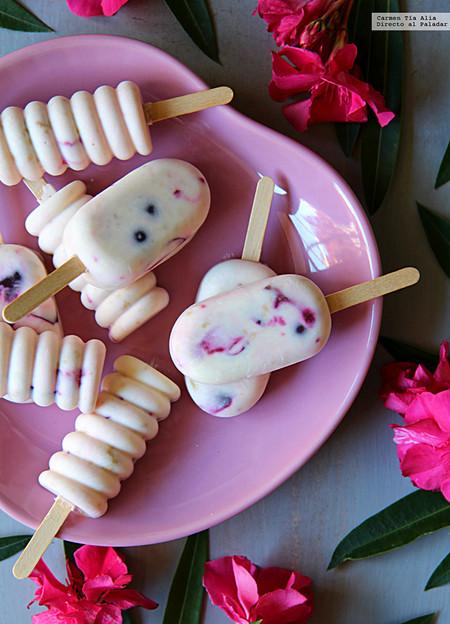 Polos De Queso De Cabra Y Cerezas Recetas Helados Saludables Y Sanos Para Dieta
