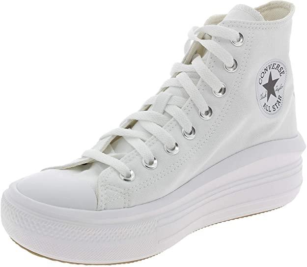 Converse Move Platform Hi Zapatillas Negras/Blancas para Mujer