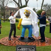Otra más: en Orizaba, Veracruz utilizaron recursos públicos para hacer una estatua de Homero Simpson
