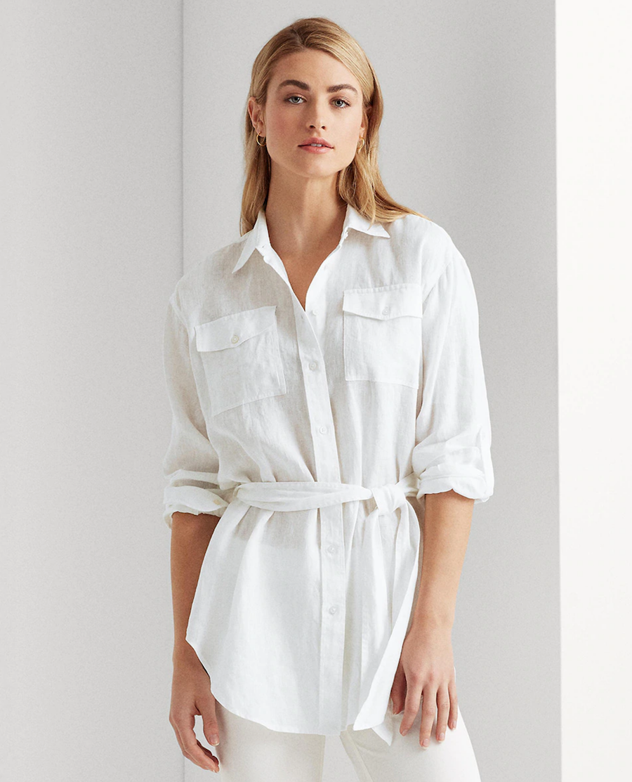 Blusa de mujer lisa y manga larga