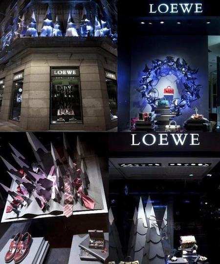 Loewe viste sus boutiques de Navidad