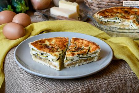 Quiche de calabacín y parmesano, receta fácil para disfrutar de las verduras