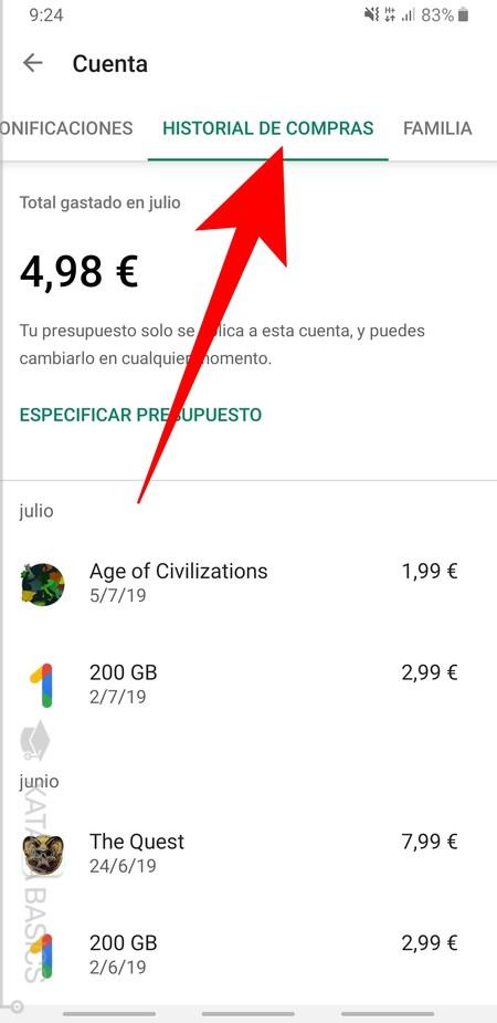 Historial De Compras