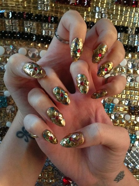 katy perry nail art met 2013