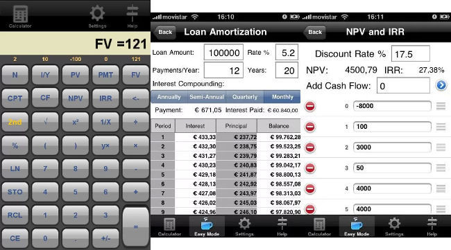 Calculadora financiera (Echoboom Apps)