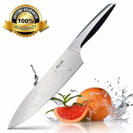 Cupón de descuento de 7 euros en el cuchillo Aicok de 20 cm: ahora cuesta 4,99 euros en Amazon