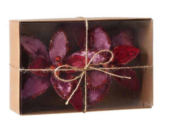 Set 2 pinzas decorativas Flores Rosas Navidad El Corte Inglés
