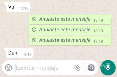 Whatspp Mensaje Anulado