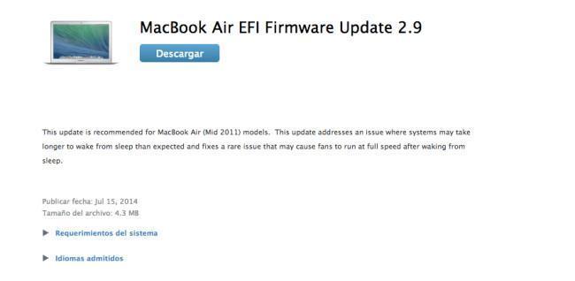 ¡Aleluya! Apple corrige el error de reposo de los Macbook Air de 2011