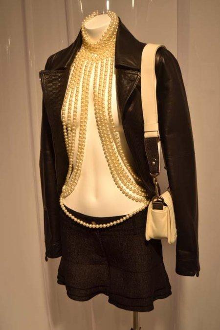 Rock cuero Chanel colección Primavera-Verano 2012