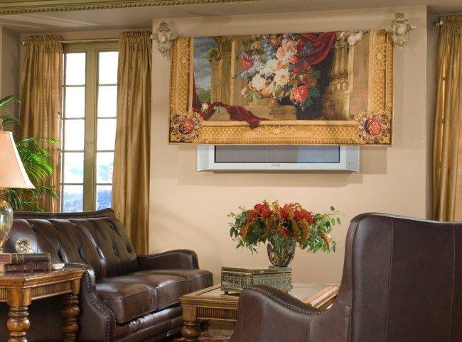 Ocultar el televisor con un tapiz buena o mala idea - Mueble ocultar tv ...