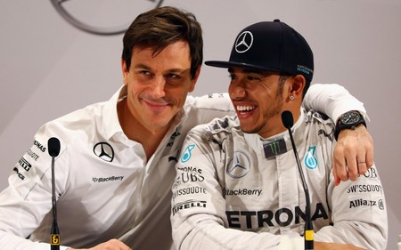 Wolff Hamilton Mercedes F1