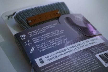 Mujjo Touchgloves etiqueta trasero