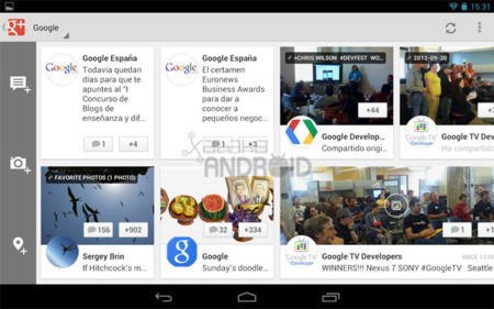 Google+ para tablets Android