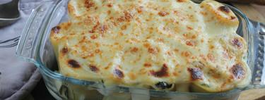 Canelones de espinacas gratinados, la receta de pasta para disfrutar sin remordimientos