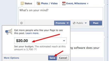 posts promocionados de Facebook