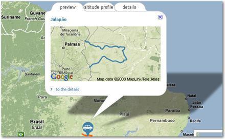 Sitio con rutas turísticas recomendadas
