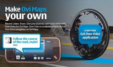 Own Voice, graba y comparte tu propia voz para la navegación GPS en Ovi maps