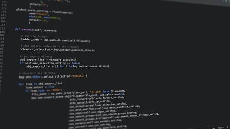 Líneas de código mostradas en una pantalla