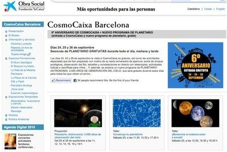 Actividades gratuitas en CosmoCaixa Barcelona