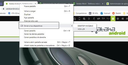 Cómo enviar páginas web en Chrome directamente del ordenador al móvil y viceversa
