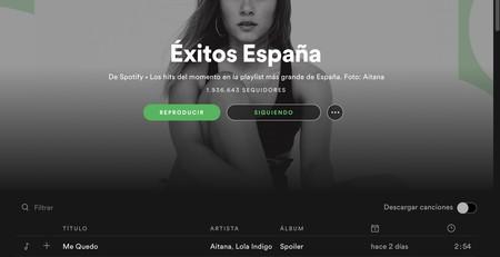 Descargar listas Spotify