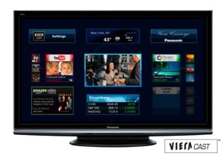 Televisores Panasonic V10 con VieraCast