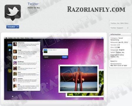 Comienzan las sorpresas: Tweetie 2 será una de las primeras aplicaciones en la apertura de la Mac App Store