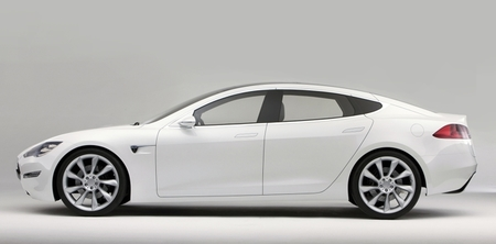 Tesla Model S blanco lateral 01