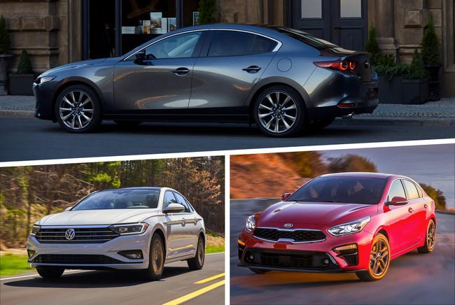 Mazda 3 vs. KIA Forte y Volkswagen Jetta: analizamos todas las versiones contra sus rivales