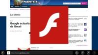 Flash se mostrará por defecto en Internet Explorer 10 Modern UI