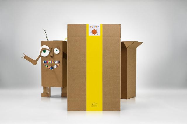 Cajas de cartón juguetes