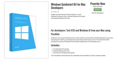 Microsoft lanza un USB para desarrolladores con Windows 8 y Parallels por 25 dólares