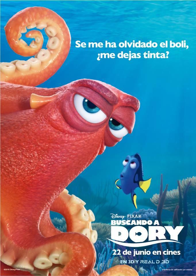 cartel de la pelicula buscando a dory