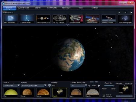 WorldWide Telescope renueva sus clientes web y de escritorio