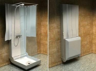 Una ducha plegable