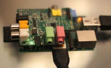 Raspberry Pi con la Wolfson Audio Card funcionando