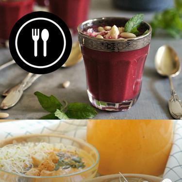 De remolacha, de aguacate y pepino y de zanahoria: tres gazpachos fáciles y refrescantes (en vídeo)