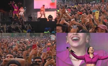Rosalía actuando frente a miles de smartphones es el futuro de la música en directo enseñándonos a disfrutar de un concierto hoy