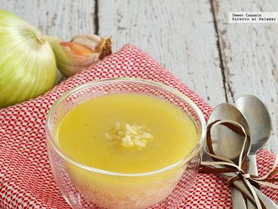 Sopa de arroz y jengibre. Receta para la gripe y los resfriados
