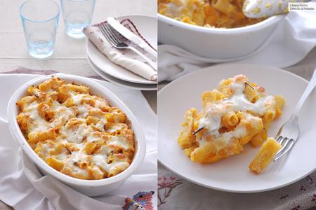 Pasta al horno con salsa cremosa de calabaza: suculenta receta para amantes de los gratinados