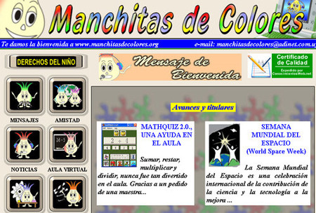 Manchitas de colores, web infantil