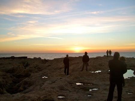 Atardecer en Gozo, Ventana Azul